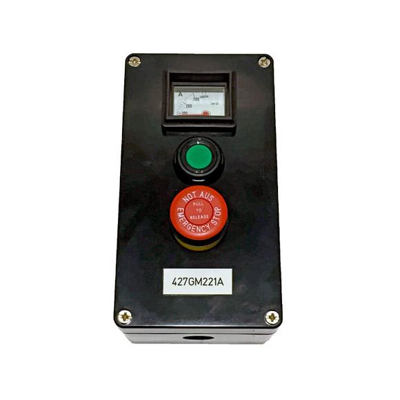 Boîtier Ampèremètre-Marche-Arrêt d'Urgence ATEX en GRP