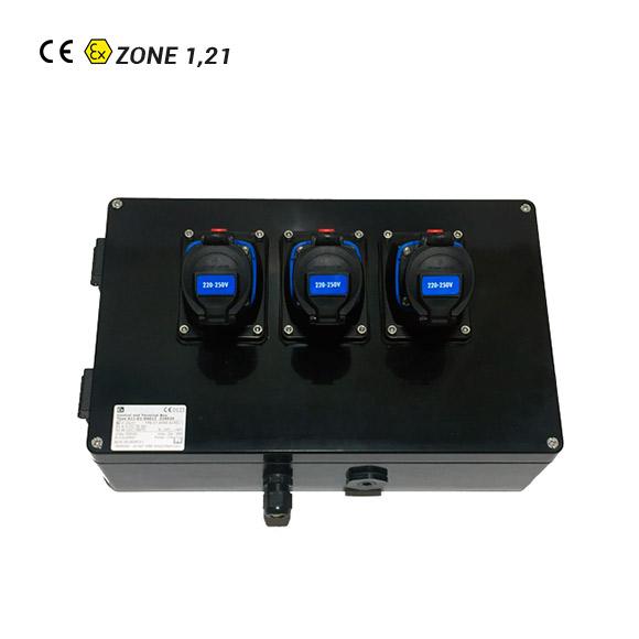 Boîtier Multiprise ATEX 3 Prises 1P+N+T