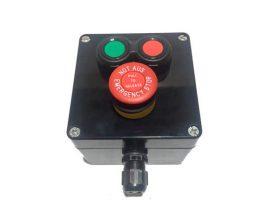 Boîtier Compact Marche-Arrêt-Arrêt d'Urgence ATEX en GRP pour Câble Non Armé